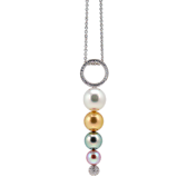 Collier Perlen Weißgold