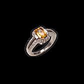 Orangesaphir-Ring