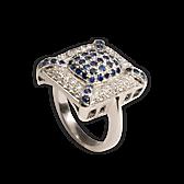 Saphir Ring groß
